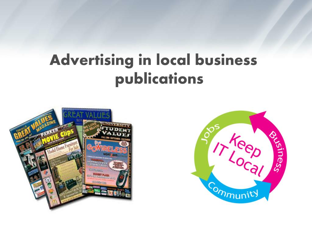 Advertising in local business publications