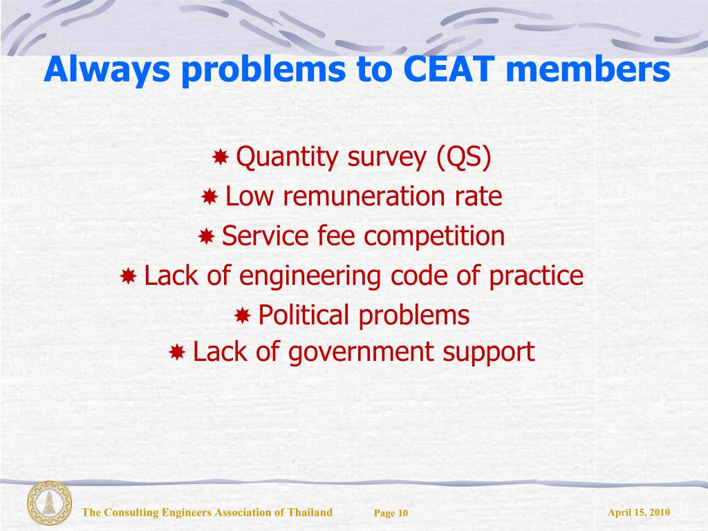 Always problems to CEAT members