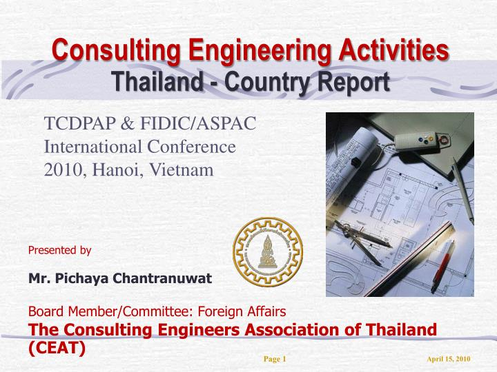 Consulting engineering activities thailand country report