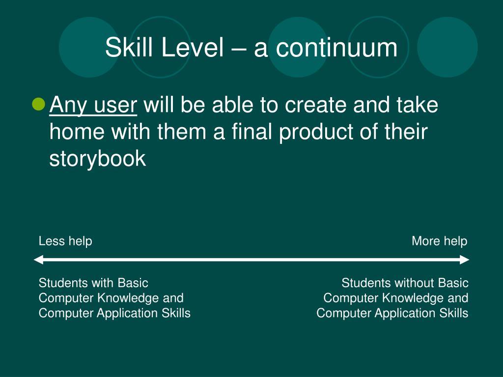 Skill Level – a continuum