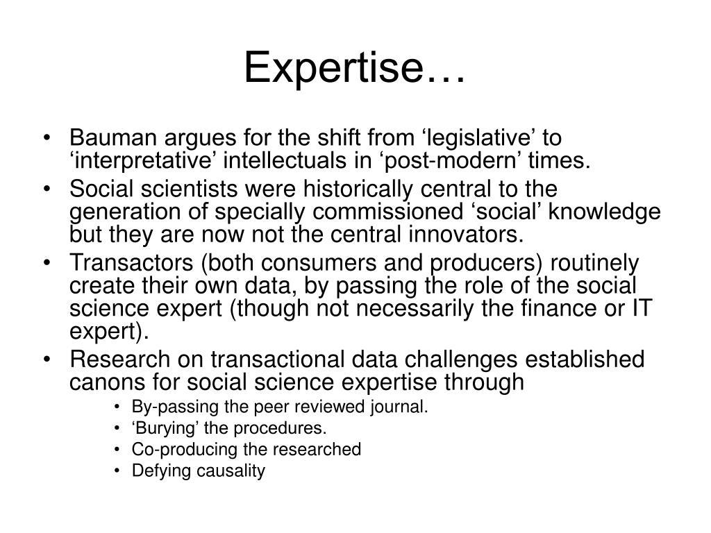 Expertise…