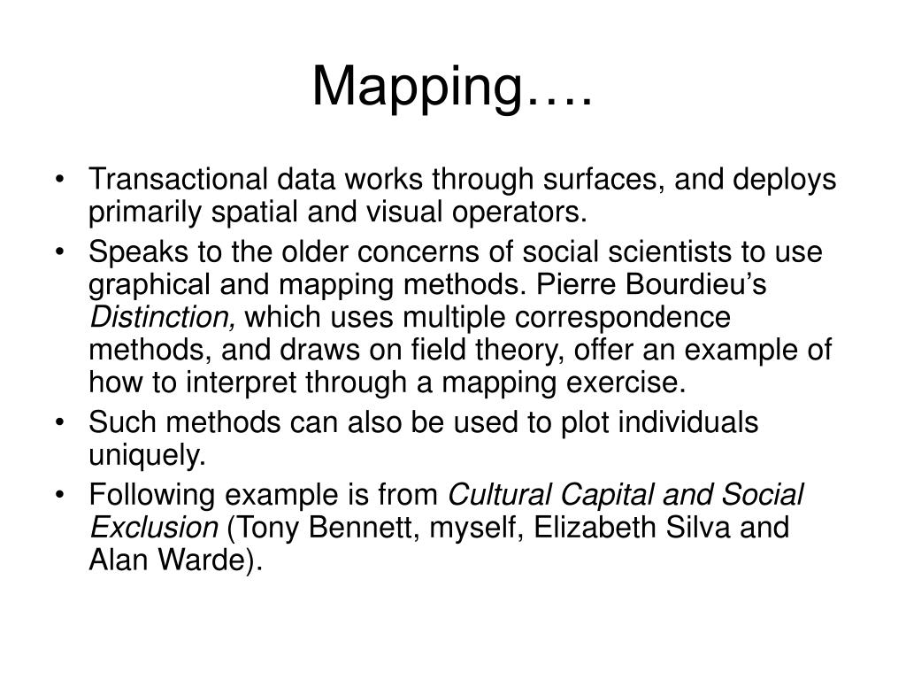 Mapping….