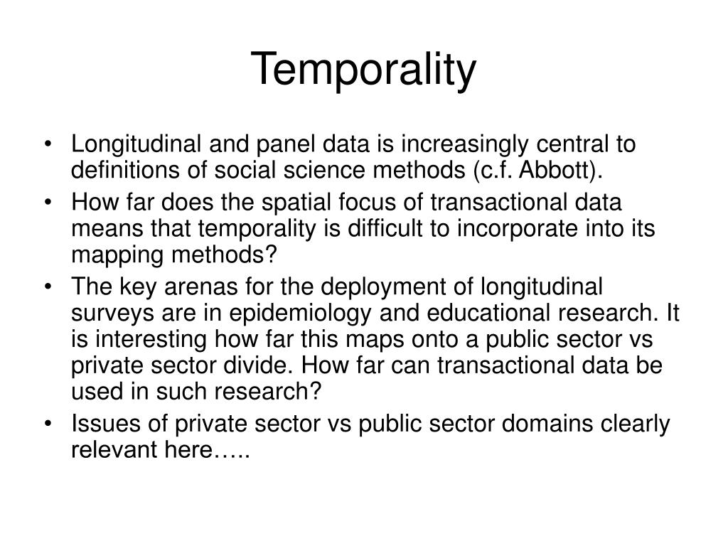 Temporality
