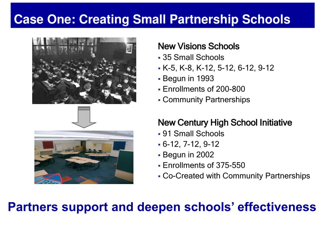 Case One: Creating Small Partnership Schools