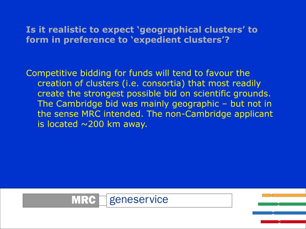 Is it realistic to expect 'geographical clusters' to form in preference to 'expedient clusters'?