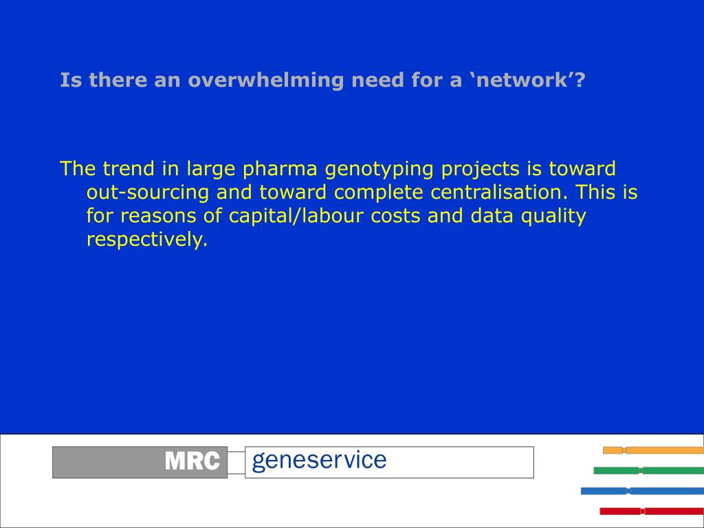 Is there an overwhelming need for a 'network'?