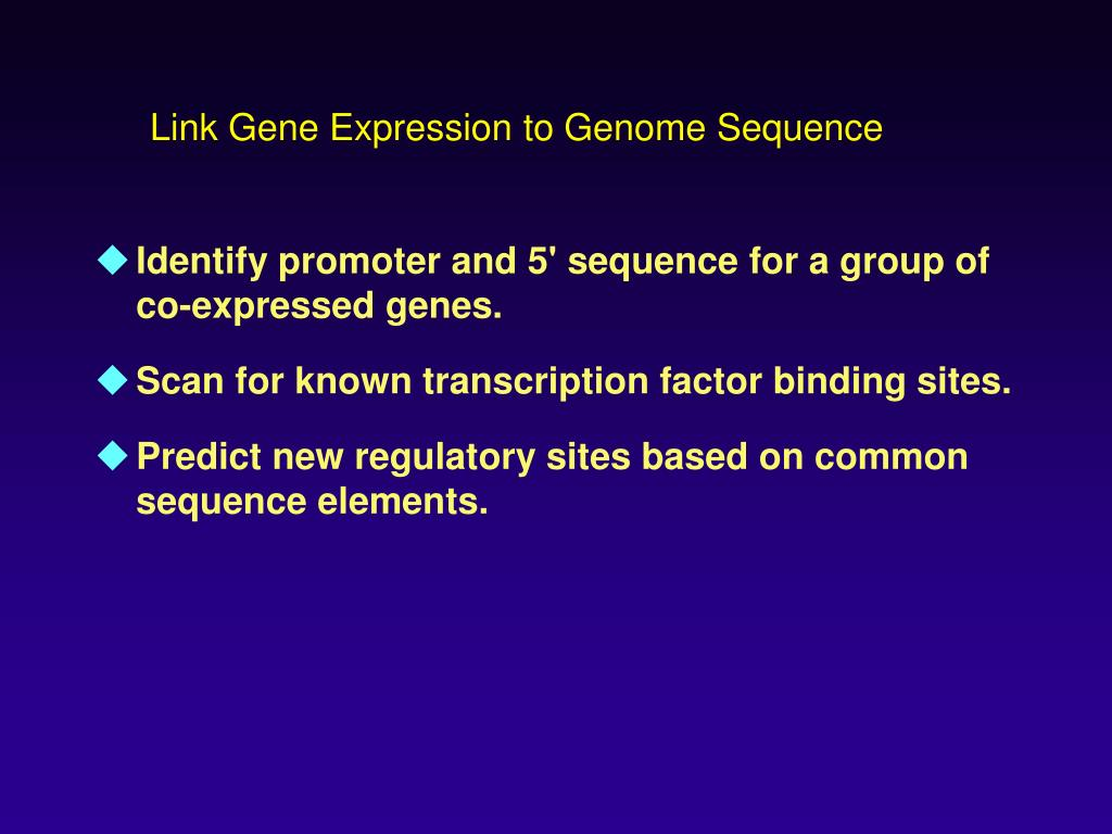Link Gene Expression to Genome Sequence