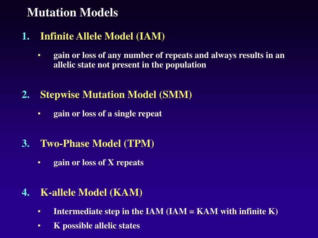Mutation Models