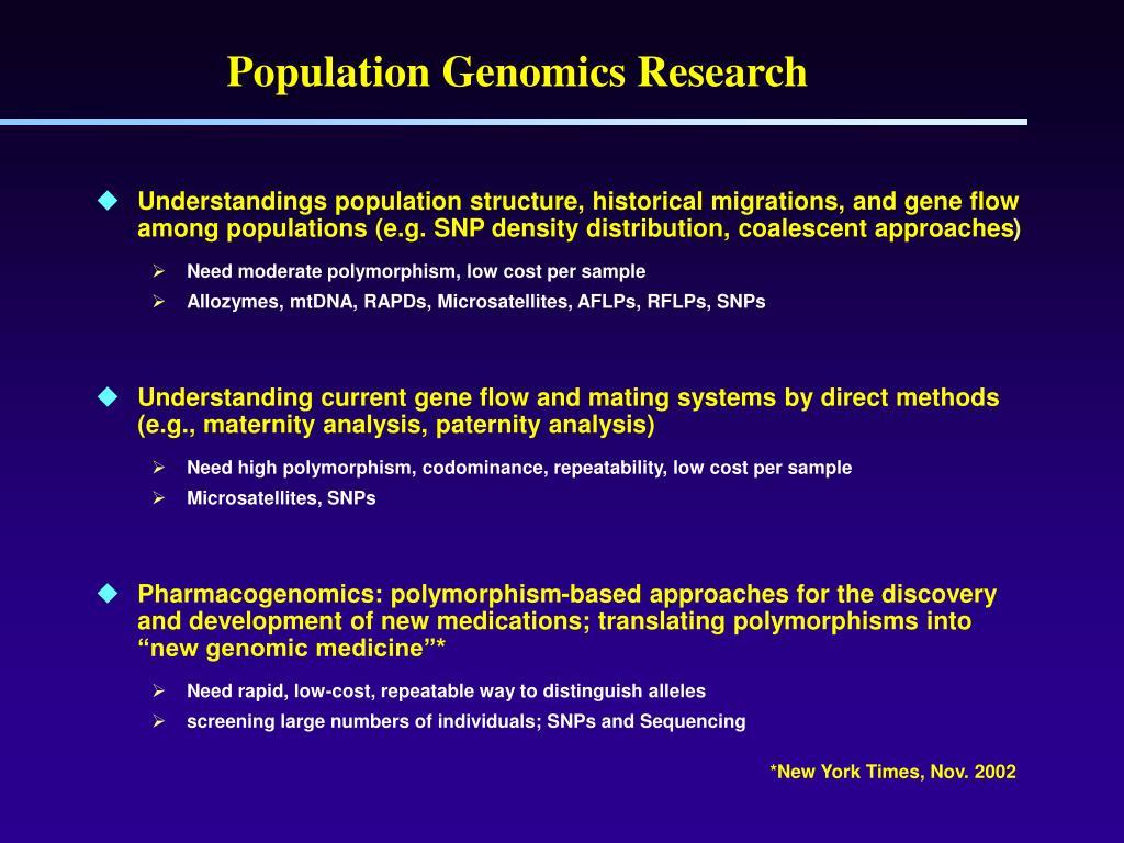 Population Genomics Research