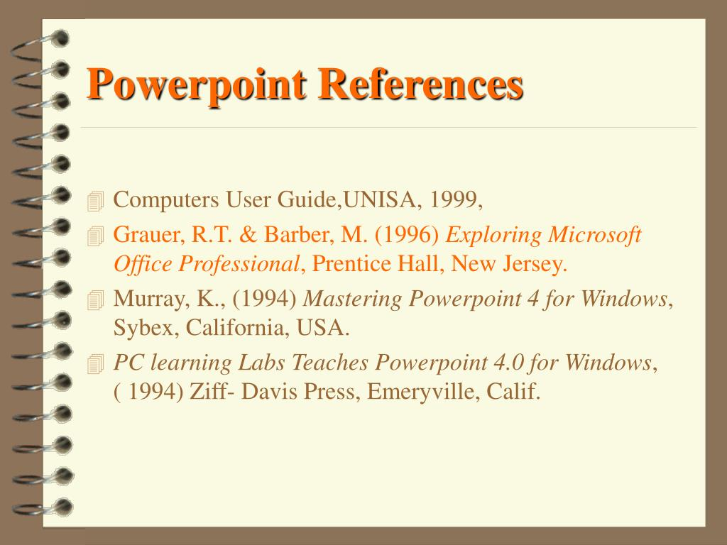 Powerpoint References
