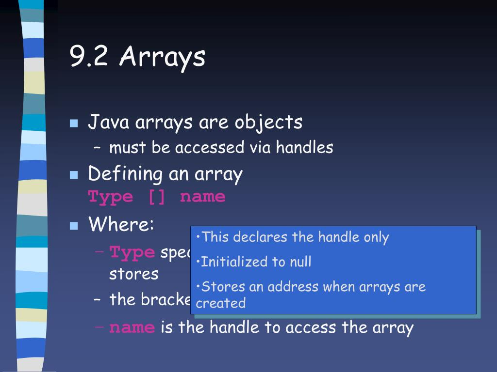 9.2 Arrays