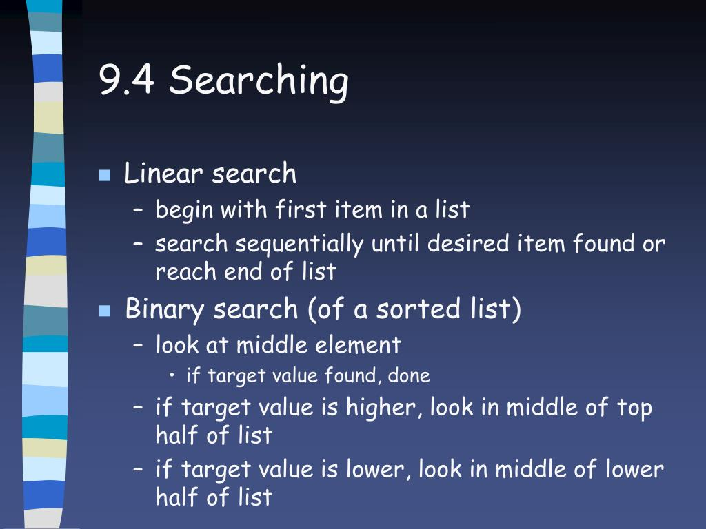 9.4 Searching