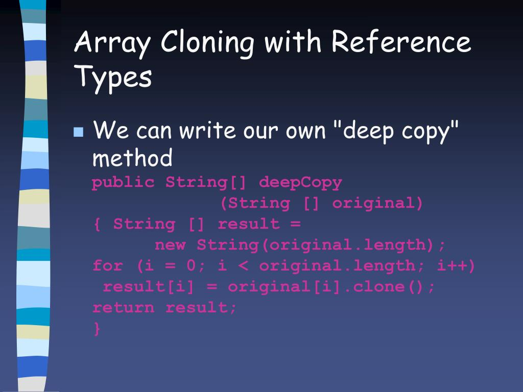 Array Cloning with Reference Types