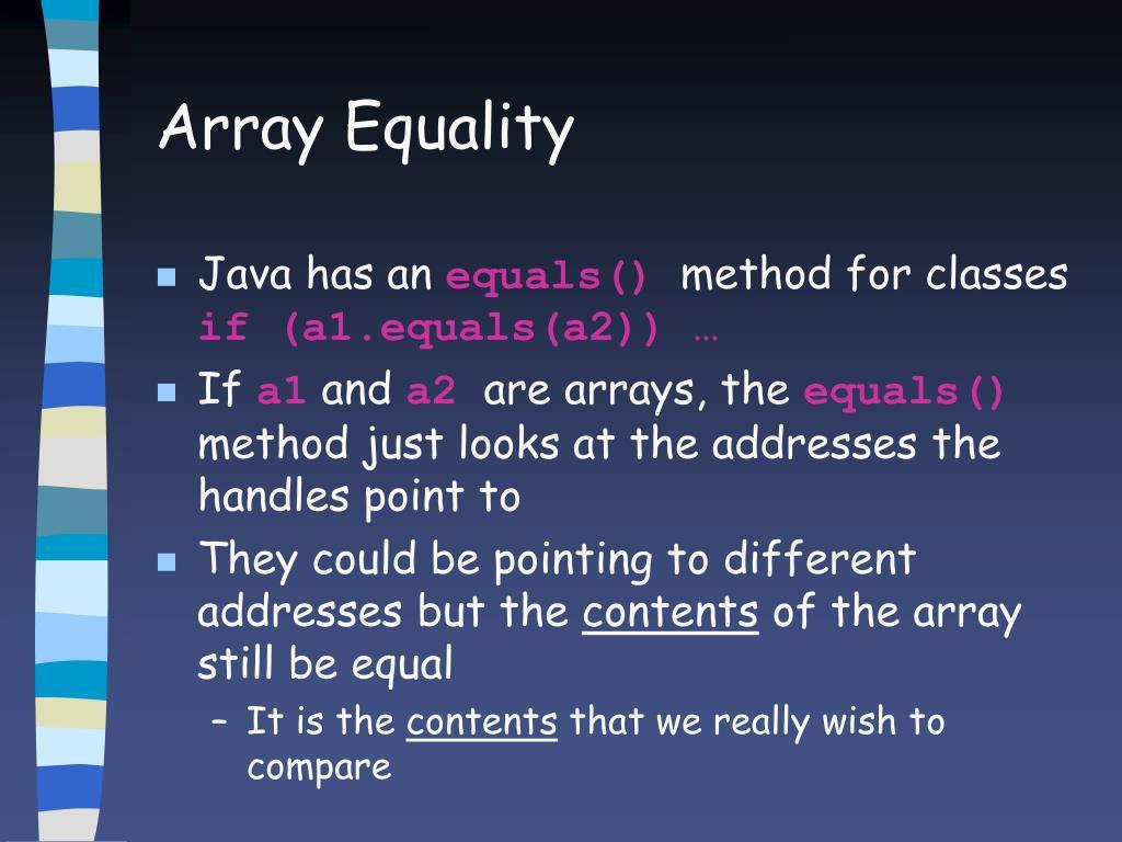 Array Equality