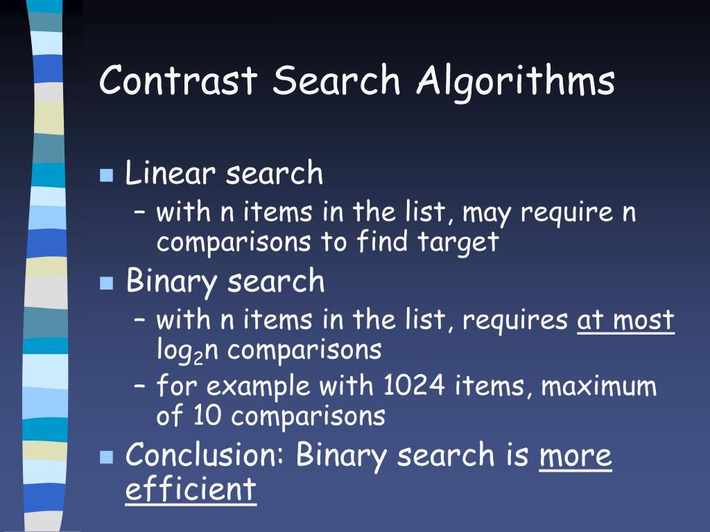 Contrast Search Algorithms