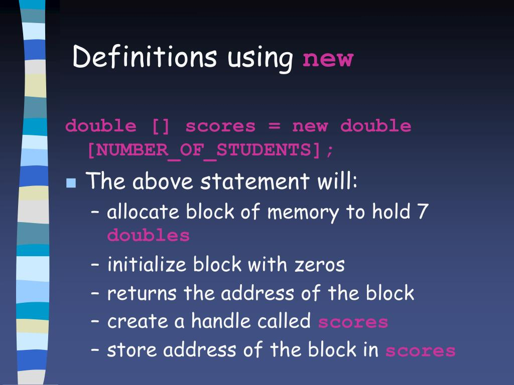 Definitions using