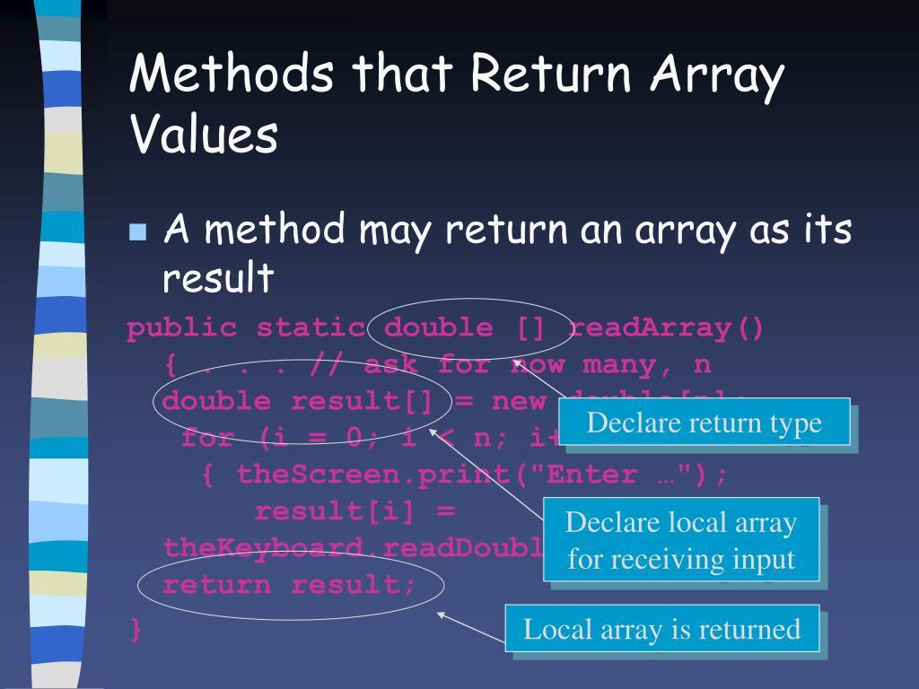 Declare return type
