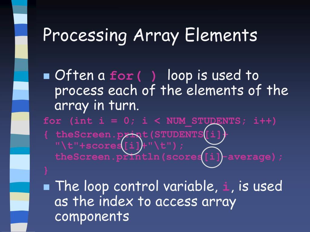 Processing Array Elements