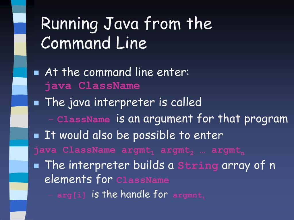 Running Java from the Command Line