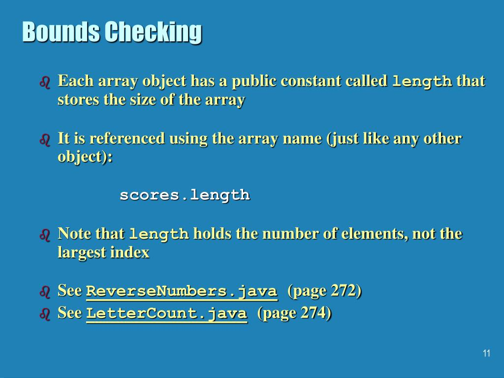 Bounds Checking
