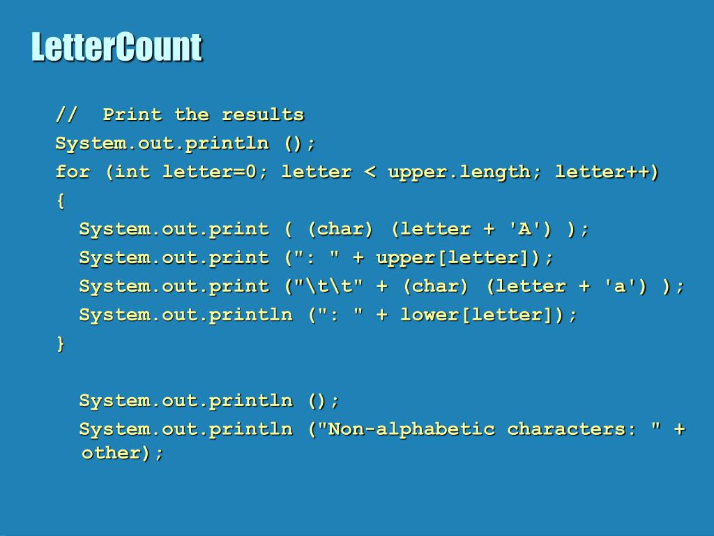 LetterCount
