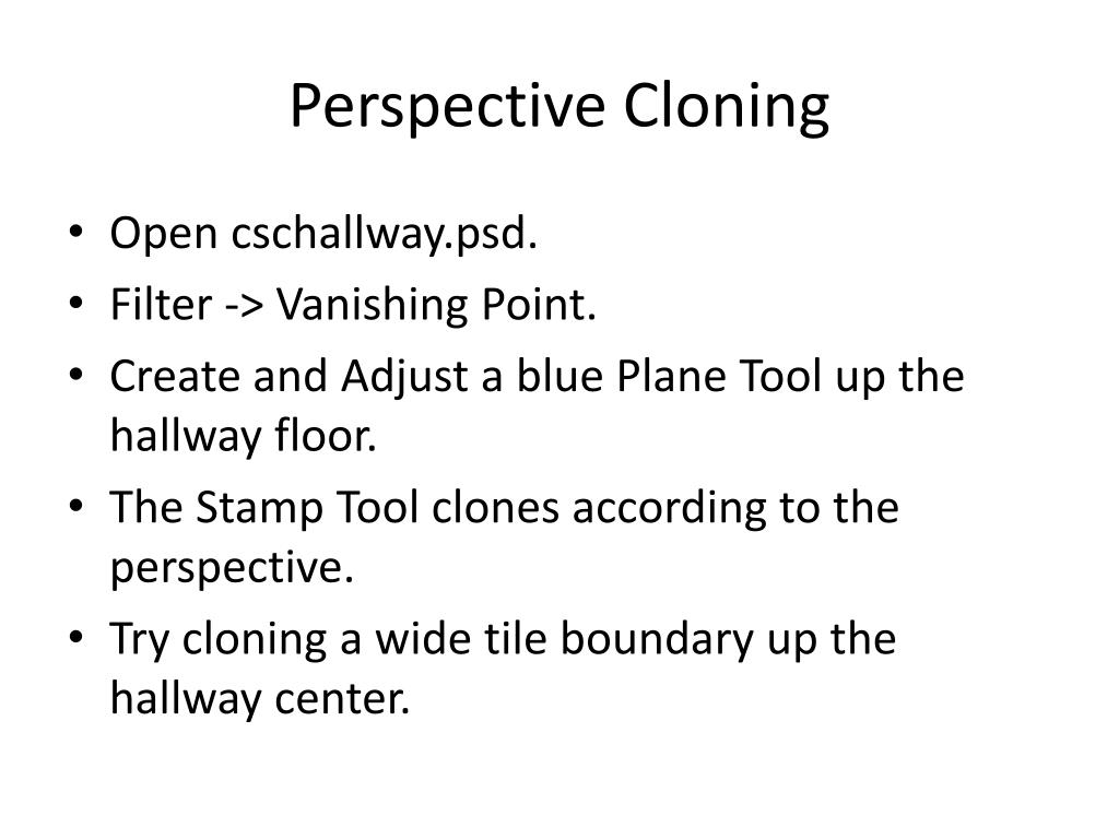 Perspective Cloning