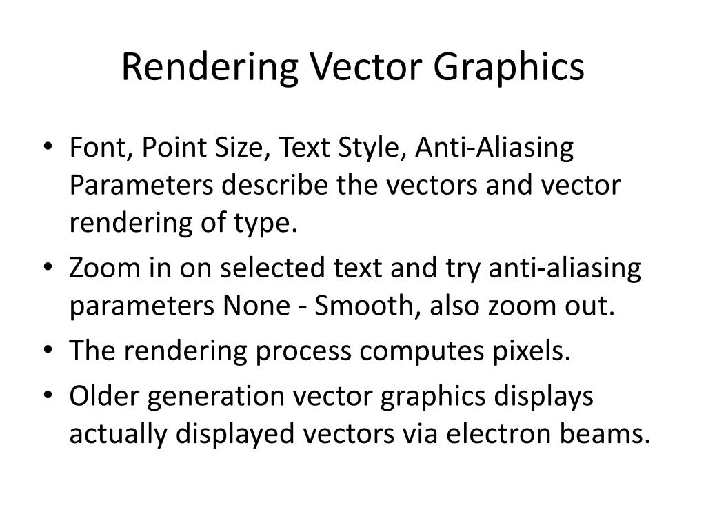 Rendering Vector Graphics