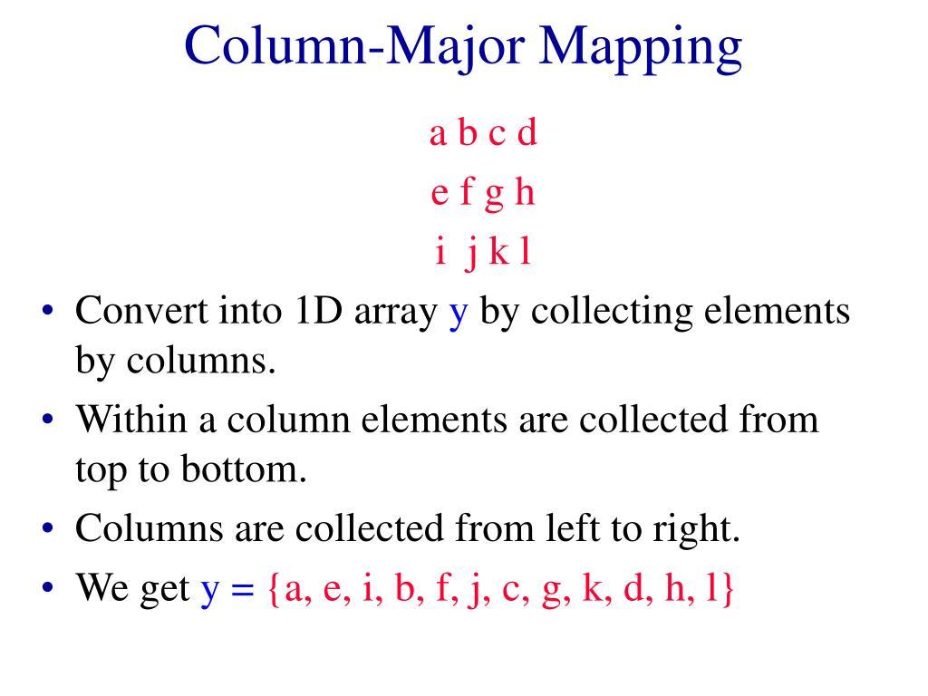Column-Major Mapping