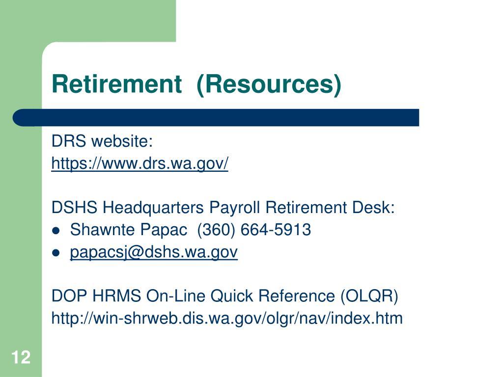 Retirement  (Resources)