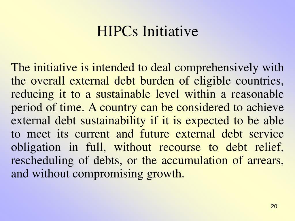HIPCs Initiative