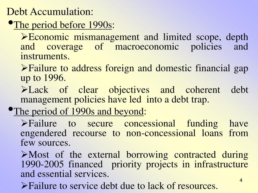 Debt Accumulation: