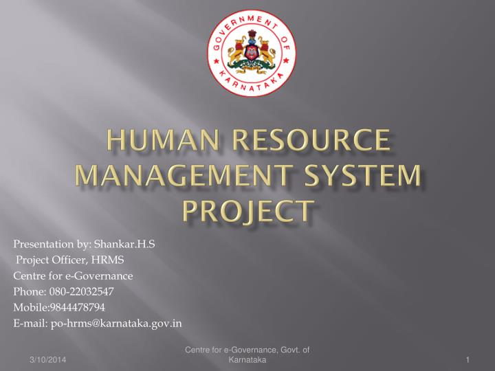 Ppt Human Resource Management System Project Powerpoint
