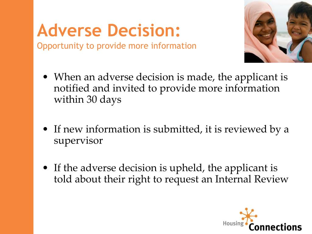 Adverse Decision: