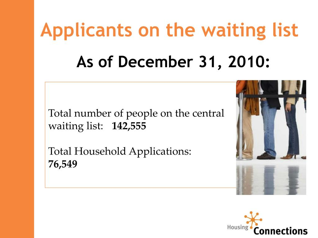 Applicants on the waiting list