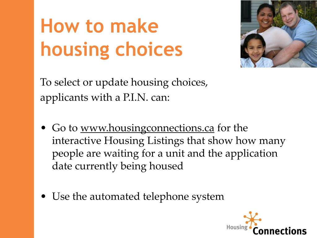 How to make                            housing choices