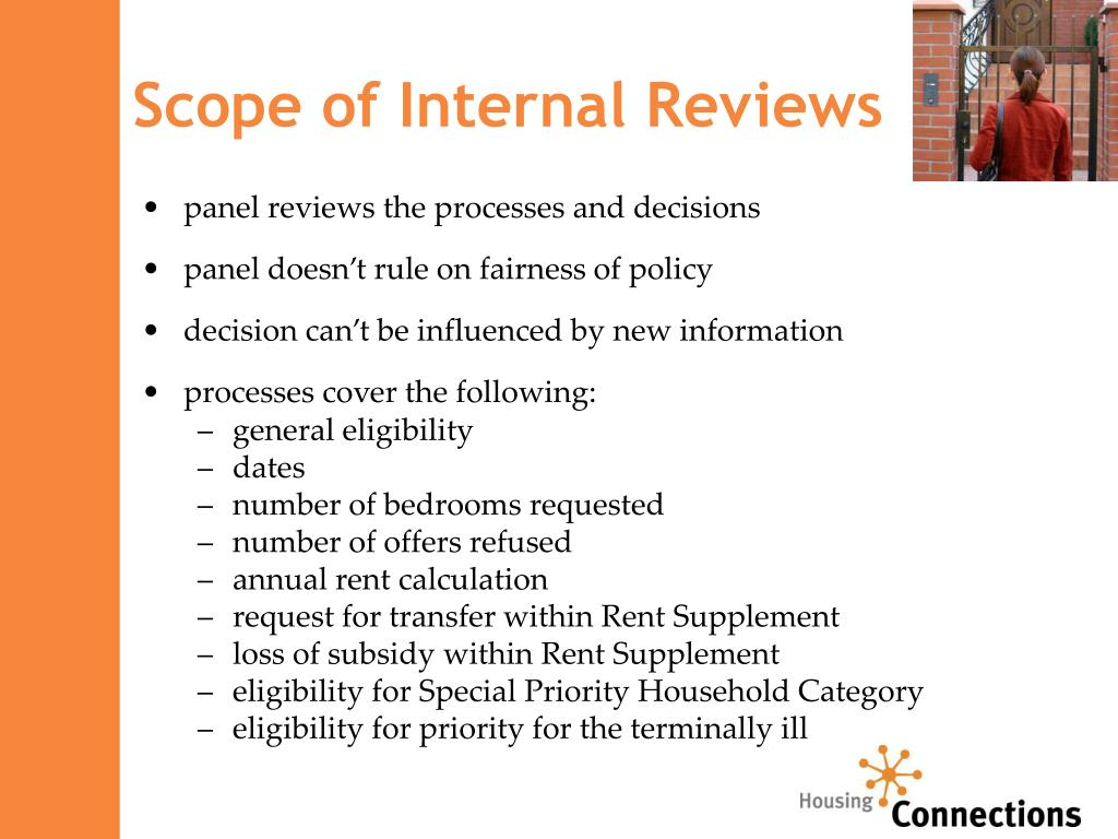 Scope of Internal Reviews