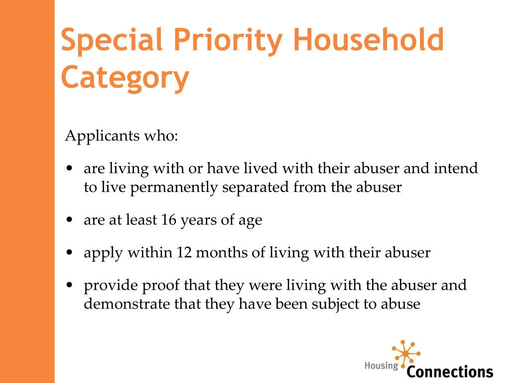 Special Priority Household Category