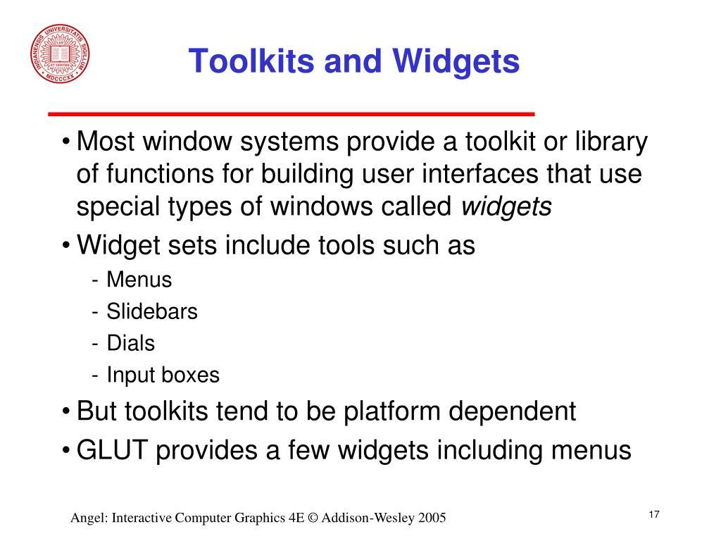 Toolkits and Widgets