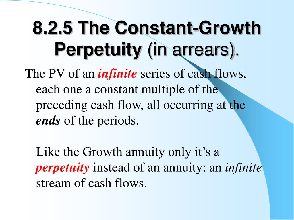 8.2.5 The Constant-Growth Perpetuity
