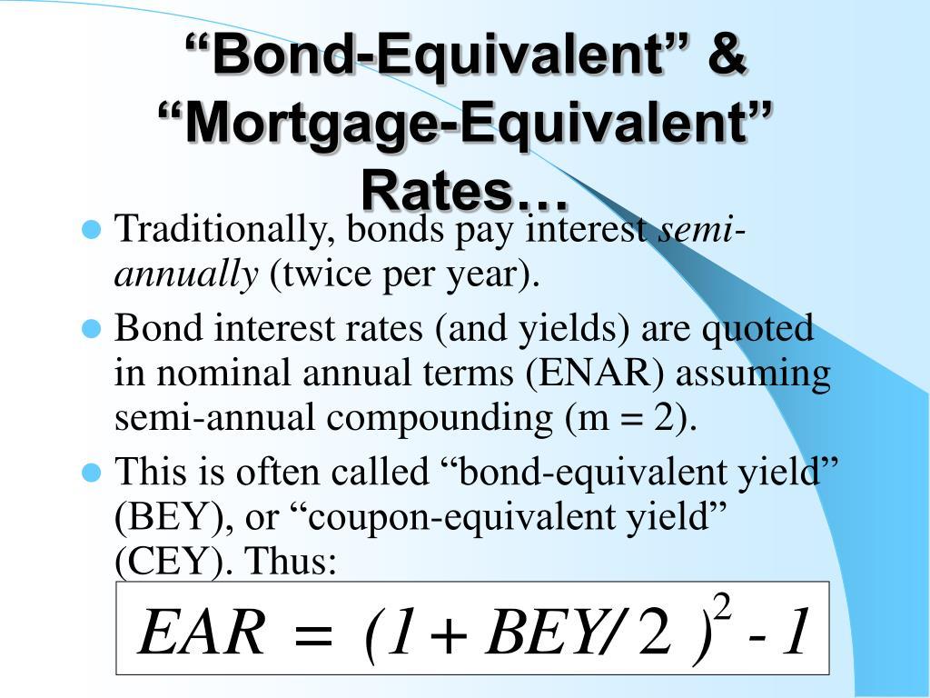 """Bond-Equivalent"" & ""Mortgage-Equivalent"" Rates…"