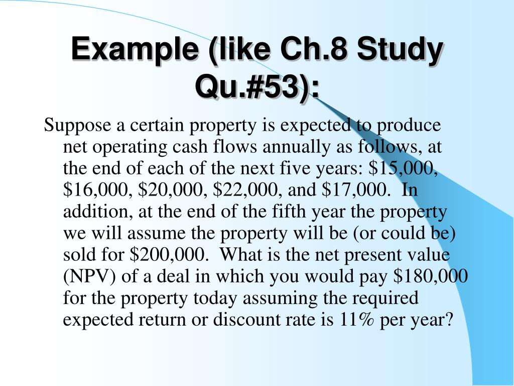 Example (like Ch.8 Study Qu.#53):