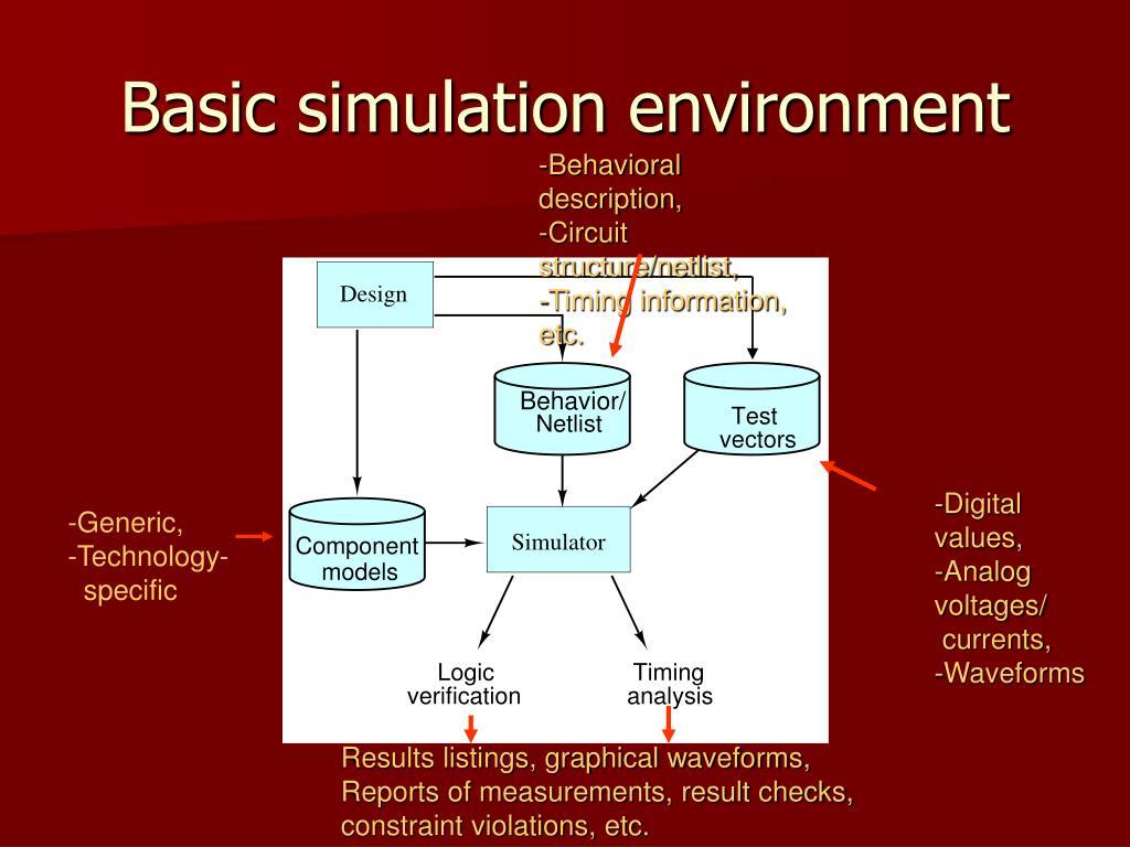 Basic simulation environment