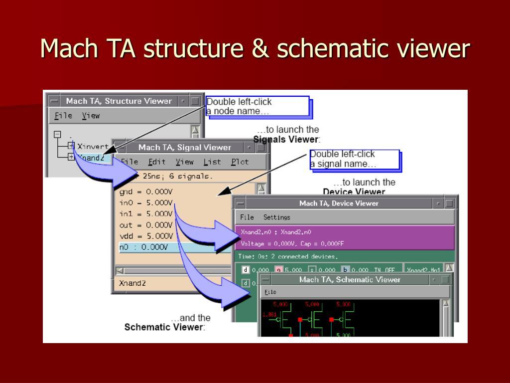 Mach TA structure & schematic viewer