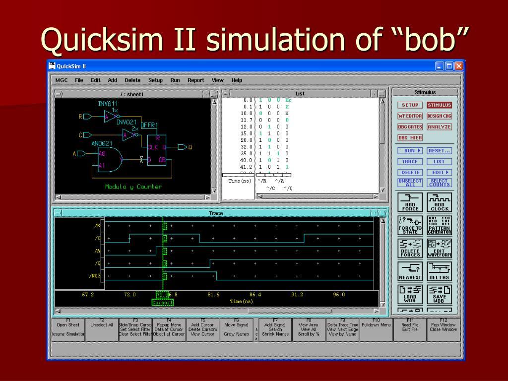 """Quicksim II simulation of """"bob"""""""