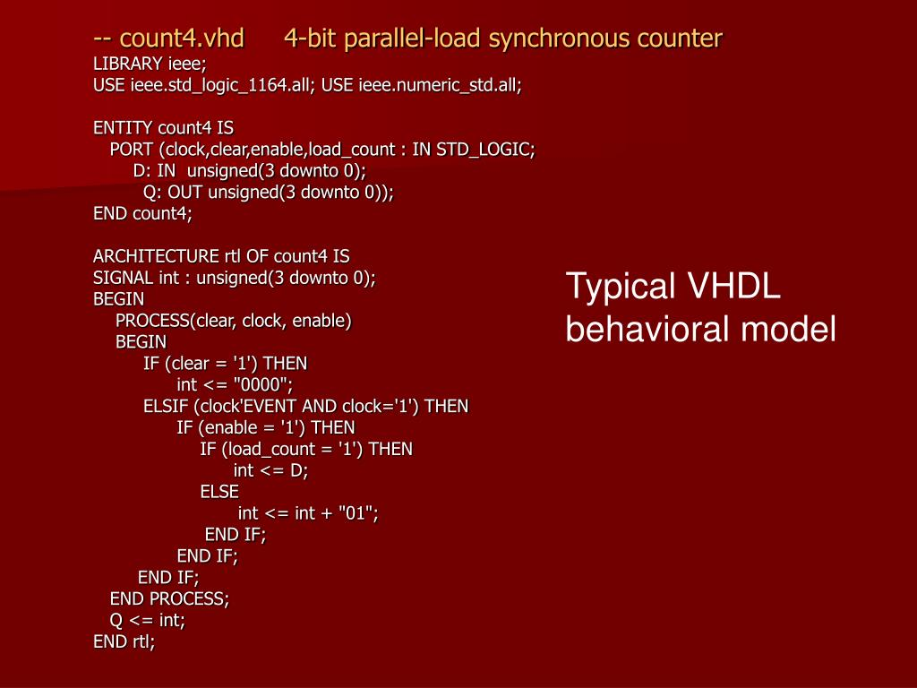-- count4.vhd     4-bit parallel-load synchronous counter