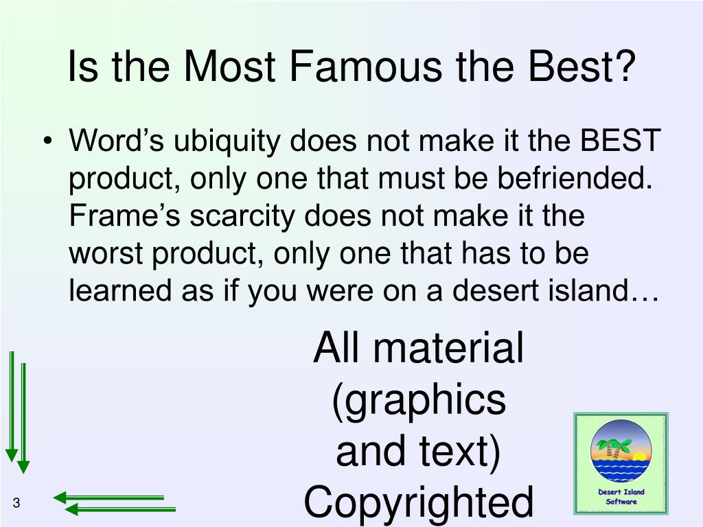 Is the Most Famous the Best?