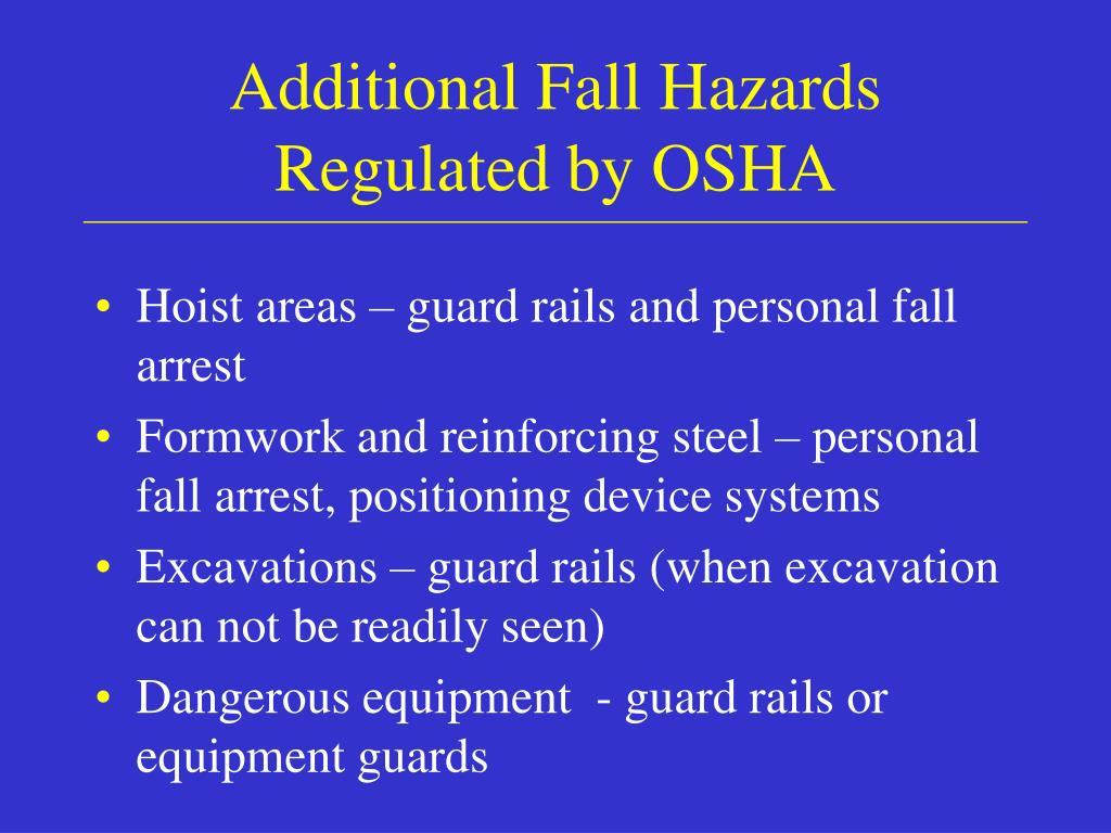 Additional Fall Hazards