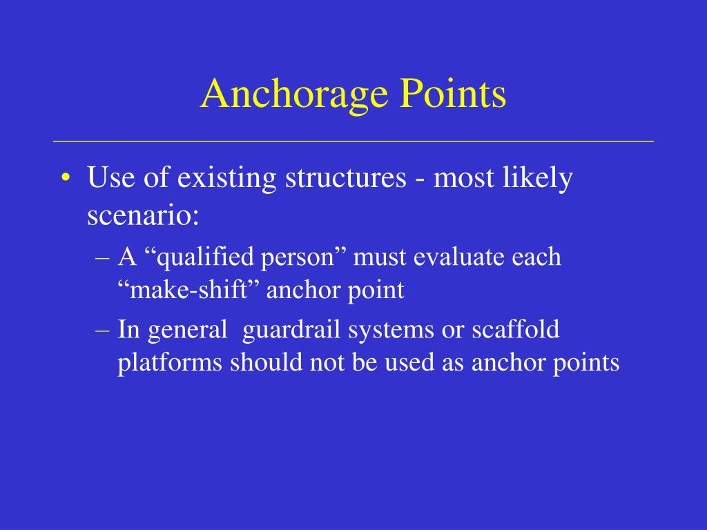 Anchorage Points