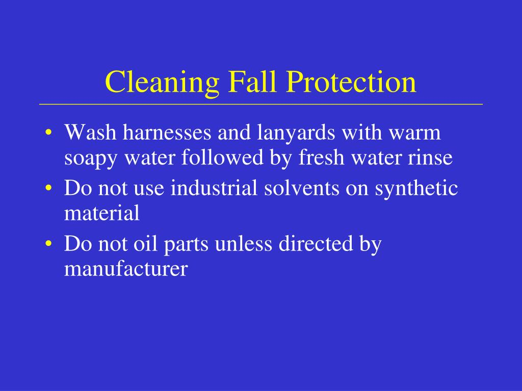 Cleaning Fall Protection