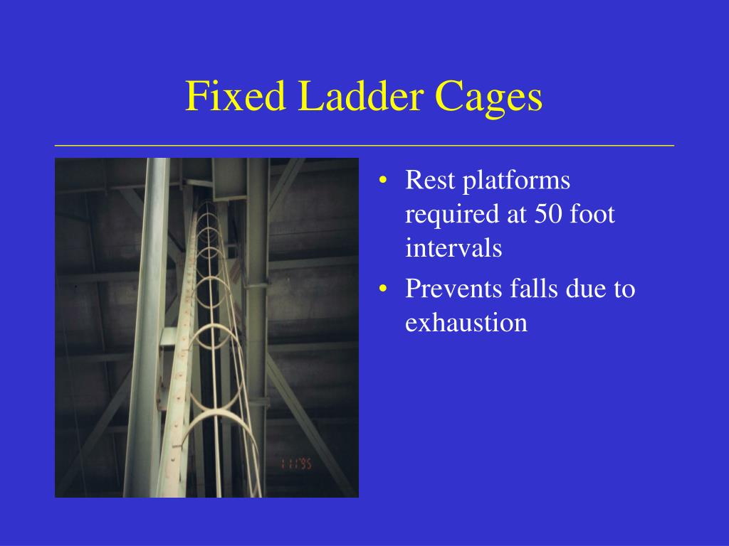 Fixed Ladder Cages